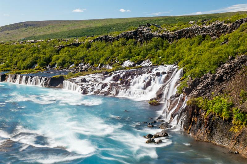 Hraunfossar Borgarfjordur Iceland